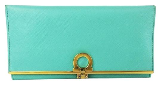 Preload https://item2.tradesy.com/images/salvatore-ferragamo-light-blue-turquoise-4633-icona-continental-leather-wallet-10199386-0-2.jpg?width=440&height=440