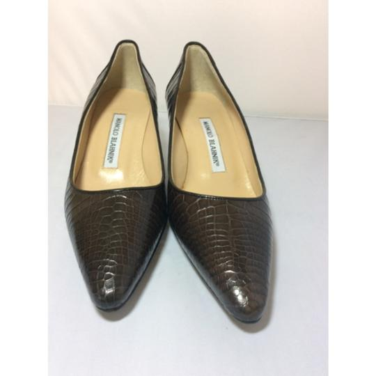 Manolo Blahnik Chocolate Brown Pumps Image 1