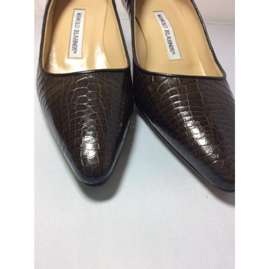 Manolo Blahnik Chocolate Brown Pumps Image 3