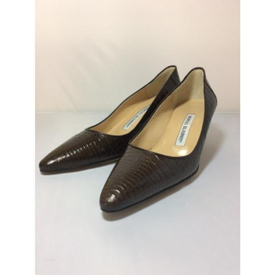 Manolo Blahnik Chocolate Brown Pumps Image 4