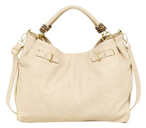 Steve Madden Large Taupe Weave Crossbody Hobo Bag