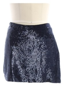 Haute Hippie Mini Skirt Deep blue