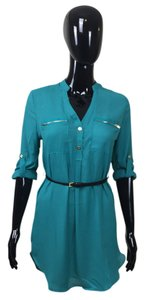 short dress Green Belt Zipper on Tradesy
