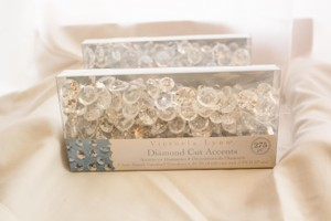 Victoria Lynn Clear Diamond Cut Accents Reception Decoration