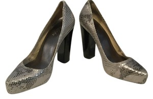 Michael by Michael Kors Silver black Platforms
