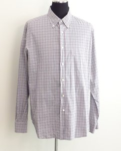 Loro Piana Men Blue Checker Shirt