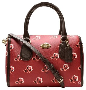 Coach F36203 Satchel in BRAMBLE ROSE