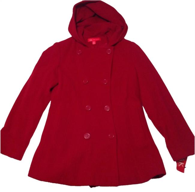 Item - Red Hooded Wool Coat Size 10 (M)