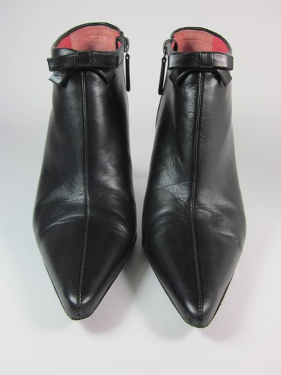 Judith Leiber Leather Short Black Boots