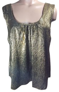 OlsenBoye Tank Sleeveless Top Gold