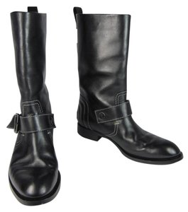 Tod's Moto Leather Logo Boots