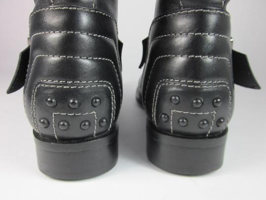 Tod's Moto Leather Logo Black Boots
