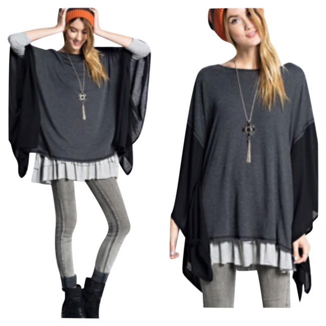 Preload https://img-static.tradesy.com/item/10202014/black-and-gray-tunic-size-os-one-size-0-1-650-650.jpg