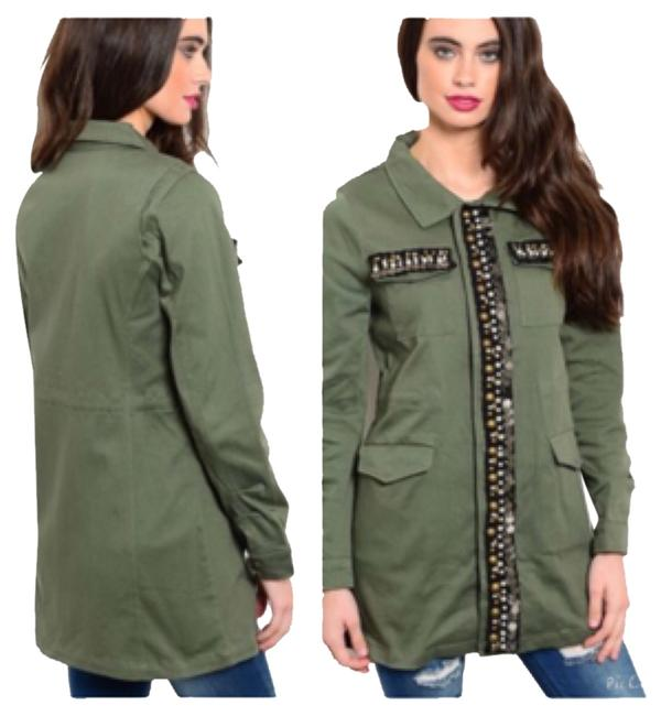 Olive Green Jacket Size OS (one size) Olive Green Jacket Size OS (one size) Image 1