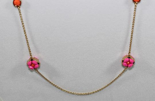 Kate Spade KATE SPADE PINK/MULTI SCATTER FLOWER NECKLACE NEW WITH TAG