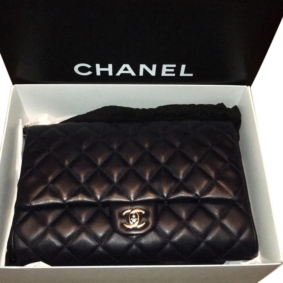b76c06de7c2c Chanel Clutch Dark Navy Lambskin Leather Clutch - Tradesy