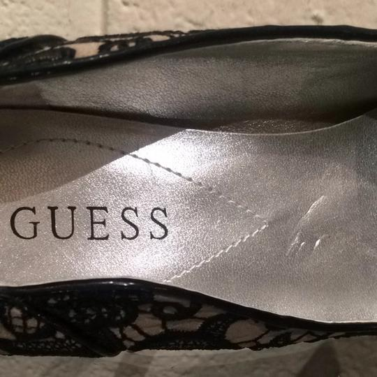 Guess Black Beige Lace Pumps Image 2