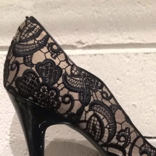 Guess Black Beige Lace Pumps Image 3