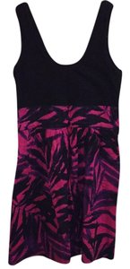 Black/pink/purple Maxi Dress by Express