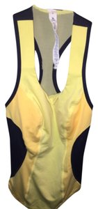 Lululemon Top Navy yellow