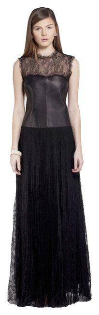 Preload https://img-static.tradesy.com/item/10204156/valentino-black-leather-and-long-night-out-dress-size-6-s-0-1-650-650.jpg