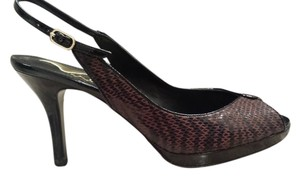 Nina Shoes Brown/Snake skin print Formal
