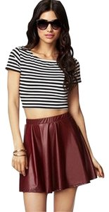Forever 21 Mini Skirt Wine Red