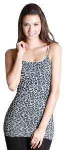 Nikibiki Leopard Animal Animal Print Top Gray