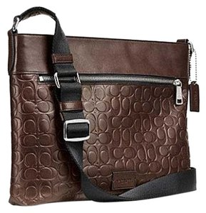 Coach Men's Signature Embossed Calf Leather 71651 Men's Sam Cross Body Bag