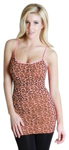 Nikibiki Leopard Print Animal Orange Top Coral Peach