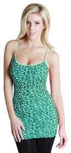 Nikibiki Leopard Print Peacock Top Green
