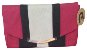 Nila Anthony Pink, Black And White Clutch