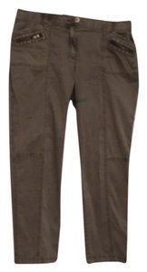 Chico's Khaki/Chino Pants Khaki green wash