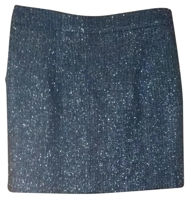 Ann Taylor Skirt Black, Silver Shine