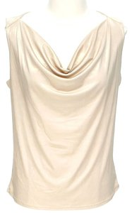 MICHAEL Michael Kors Metallic Cowl Neck Top Champagne