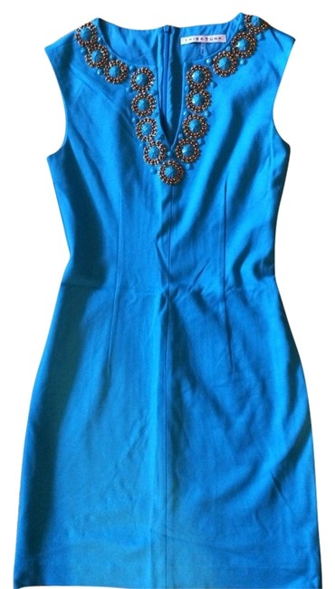 Trina Turk Sheath Sleeveless Embellished Dress
