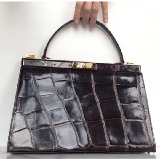 Preload https://item2.tradesy.com/images/no-name-brown-crocodile-satchel-10208356-0-2.jpg?width=440&height=440