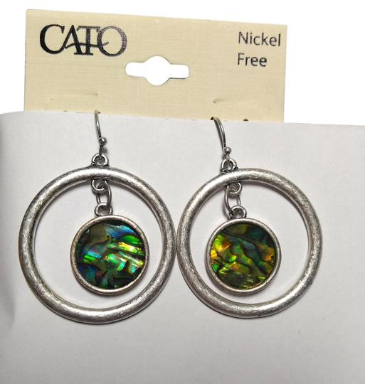 Preload https://item4.tradesy.com/images/cato-silver-green-new-abalone-shell-hoop-tone-j1746-earrings-10208428-0-1.jpg?width=440&height=440