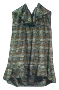 Green/multi earth tones Maxi Dress by Hello Miss