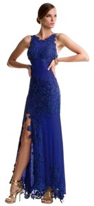 Alberto Makali Designer Mesh Beaded Evening Gown Pageant Cocktail Neiman Marcus Couture Dress