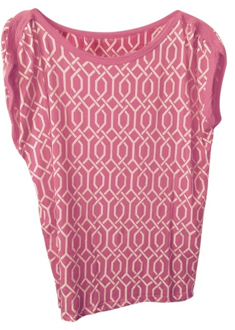 Preload https://item4.tradesy.com/images/pink-and-white-blouse-size-12-l-10210108-0-1.jpg?width=400&height=650
