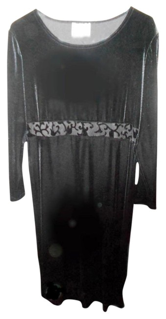 Preload https://item3.tradesy.com/images/clio-black-velvet-sale-free-shipping-long-night-out-dress-size-16-xl-plus-0x-10210147-0-3.jpg?width=400&height=650