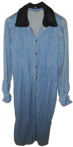 Blue Jean Maxi Dress by Liz Claiborne Jean Coat