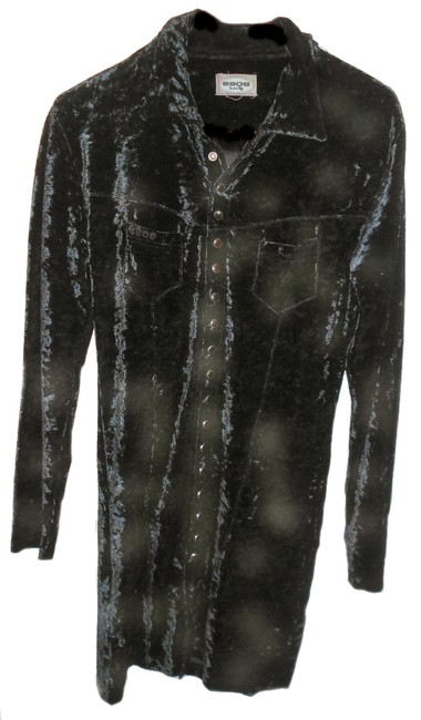 Preload https://item2.tradesy.com/images/black-crushed-velvet-or-weight-coat-long-night-out-dress-size-6-s-10210441-0-1.jpg?width=400&height=650