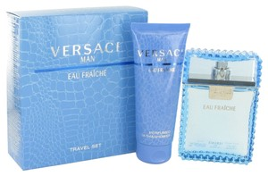 Versace Versace Man Cologne by Versace Gift Set - 3.3 oz Eau De Toilette Spray (Eau Frachie) + 3.3 oz Shower Gel