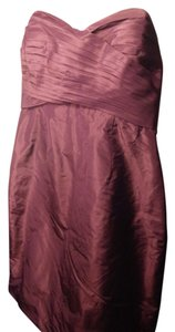 J.Crew Short Plum Strapless Dress