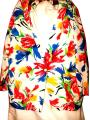 Susan Graver Polyester Cardigan Floral Button Multicolor on White Blazer Image 0