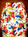 Susan Graver Polyester Cardigan Floral Button Multicolor on White Blazer Image 1