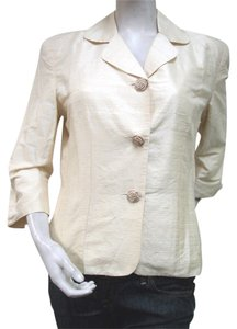 My Boyfriend's Back MY BOYFRIEND'S BACK Antique Ivory Silk Shantung Blazer Jacket