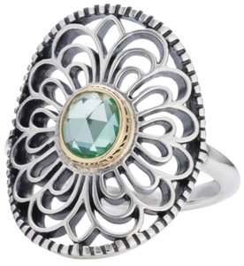 PANDORA Pandora Retired Vintage Allure Ring with Green Stone